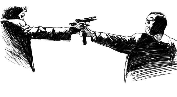 Stefan Tell - Illustration - Mexican Standoff